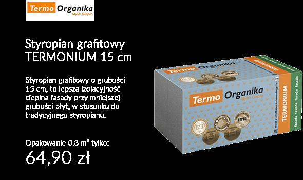 STYROPIAN EPS S TERMONIUM FASADOWY 15CM / 0,3M³ TERMO ORGANIKA