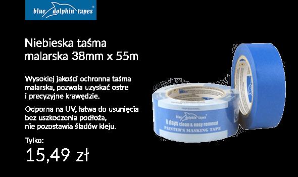 Taśma maskująco - ochronna TAŚMA MALARSKA NIEBIESKA 38MM X 55M BLUE DOLPHIN